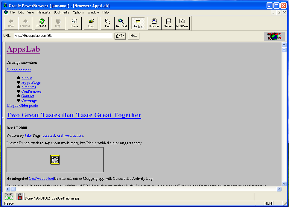 It's theappslab.com in Oracle PowerBrowser, pretty