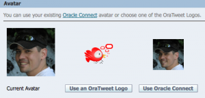 OraTweet Profile integrating Connect API