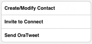 Create/Modify contact in your iPhone address book, invite to network, tweet