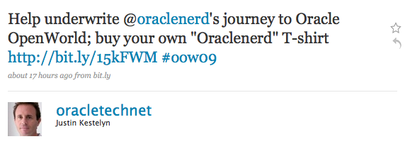 Help the ORACLENERD get to OOW