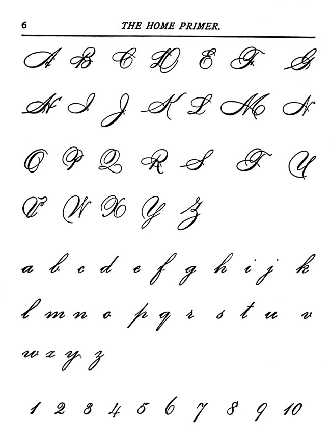 alphabet cursive writing Cursive writing alphabet and how to teach kids cursive handwriting with correct cursive letter order.