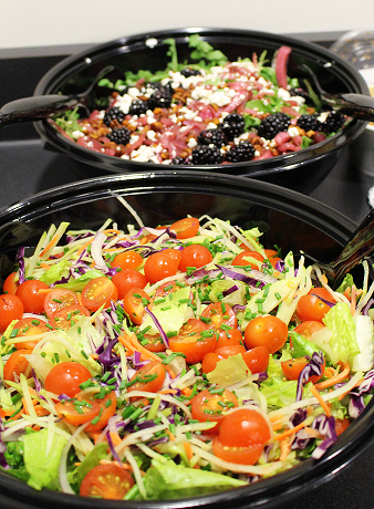 Healthful sustenance: Lunch salads [photo: Karen Scipi]
