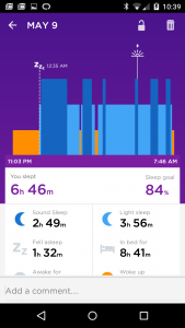 Sleep data from a charged battery