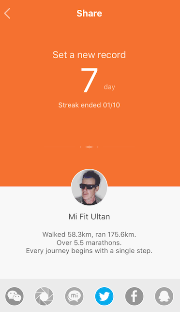 On a winning streak: Mi Band (All app images are on iOS)