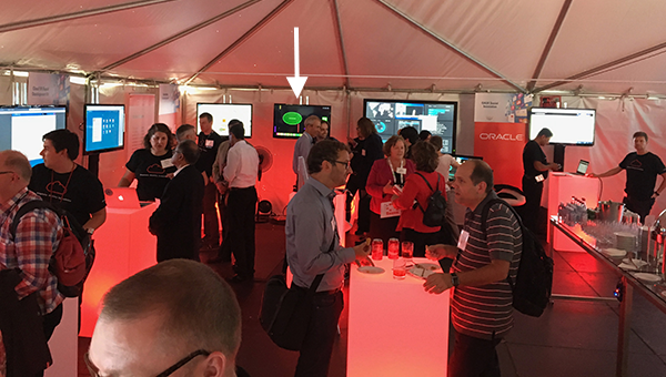 A view of the Apps UX Exchange Tent at OpenWorld 2016
