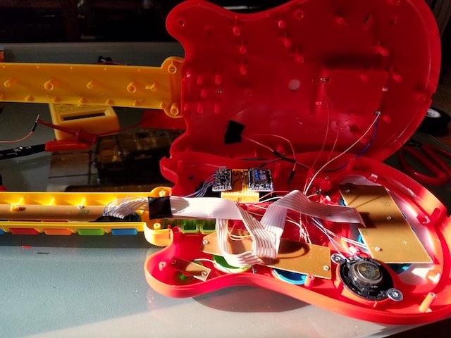 Mod of a toy guitar as controller